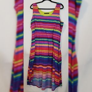 Maurices Multi color Rainbow high low dress Size 2